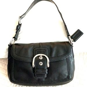 Coach Soho buckle black leather Shoulder bag hobo